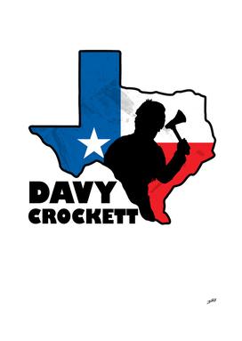 The American Folk Hero Davy Crockett