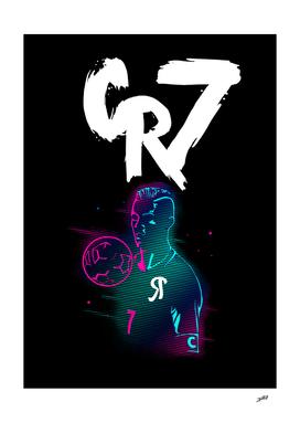 Cristiano Ronaldo CR7 - Pink Blue Style