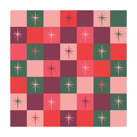 stars (green and red)