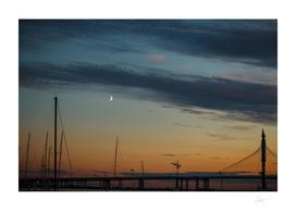 Moonlight marina