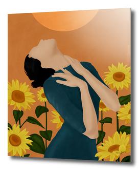 Pretty Sunflower Woman I