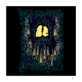 Mushrooms Skull Creature