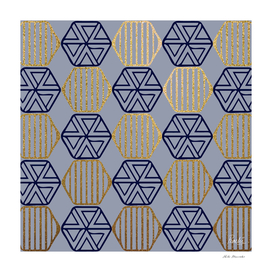 GEOMETRIC HEXAGON - BLUE