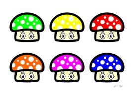 cute mushrooms