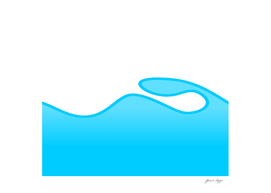 water shaped vector background abstract design