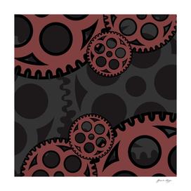 drag gear vector background design