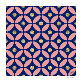 GEOMETRIC CIRCLES - BLUE