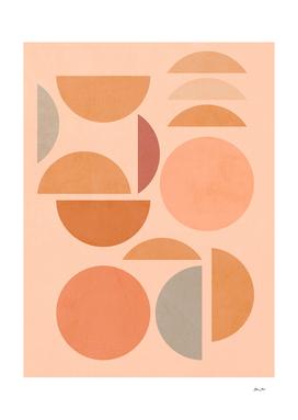 Peachy Sun and Moon Pattern #abstractart