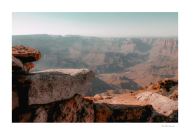 Desert view in summer at Grand Canyon national park USA