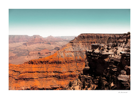 Desert scenery in summer at Grand Canyon national park USA
