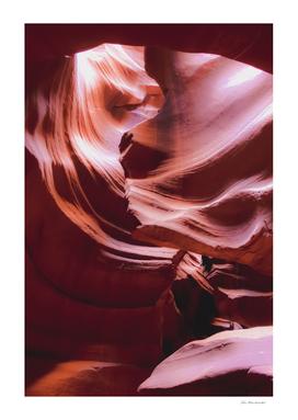 Orange color cave at Antelope Canyon Arizona USA