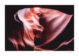 Cave in the desert at Antelope Canyon Arizona USA