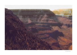 Desert scenery at Grand Canyon national park USA
