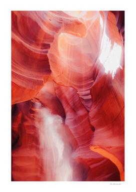 Sandstone surface abstract at Antelope Canyon Arizona USA