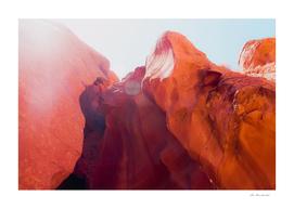Sandstone texture in the desert at Antelope Canyon Arizona
