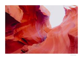 Sandstone texture abstract at Antelope Canyon Arizona USA
