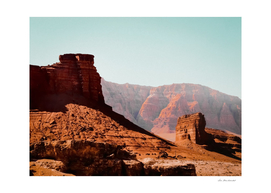 Desert and sandstone with blue sky in summer in Utah USA