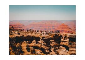 Desert mountain view at Grand Canyon national park