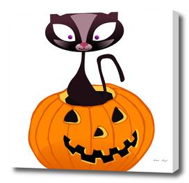 BOOOO - Pumpkin Cat