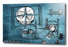 The Skull faced moon