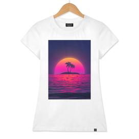 Beach Palm Sunset