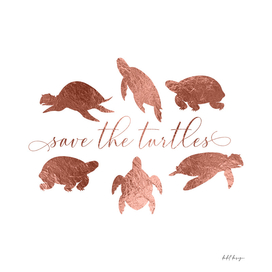 Save The Turtles Rose Gold