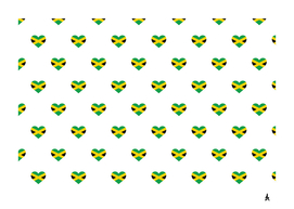 Love Jamaica flagMotif Pattern