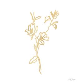 Flower gold texture