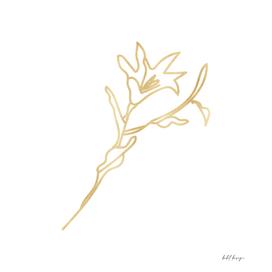 flower gold hand drawn