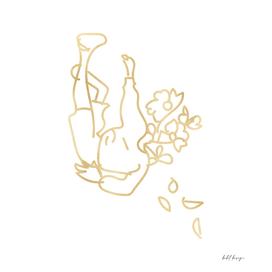 girl flower head drop