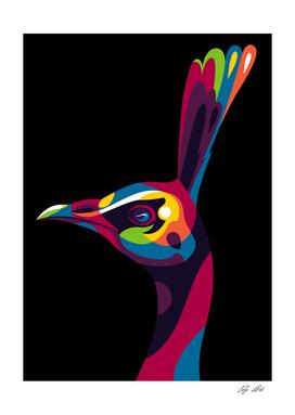 Peafowl in Colorful Pop Art