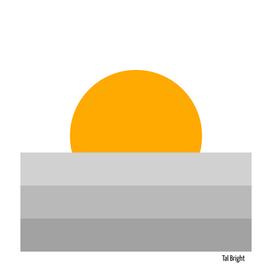 Minimal Sunset - Grey Sea