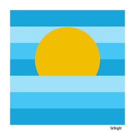 Minimal Sunset Blue Skies