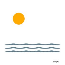 Minimal Sunset brush waves
