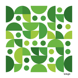 Funky Retro Pattern green