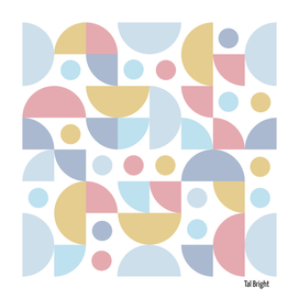 Funky Retro Pattern muted colours