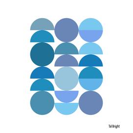 Mid Century Modern Abstract Geometric Minimal Circles
