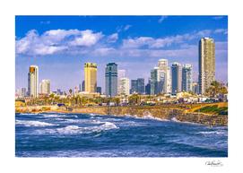 Coastal Aerial Tel Aviv Cityscape, Israel