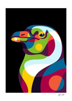 Penguin Pop Art Illustration