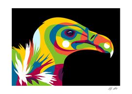 Vulture Pop Art Illustration