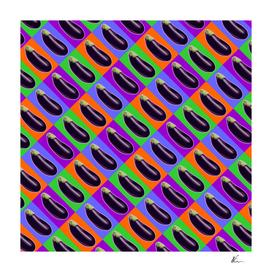 Eggplant Color Pattern   Pop Art