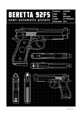 baretta handgun diagram