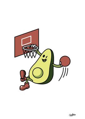 Avocado Playing Basketball