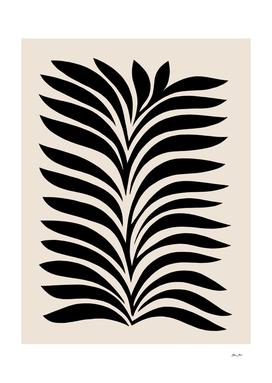 Minimal Fern 3. Black on beige #foliage