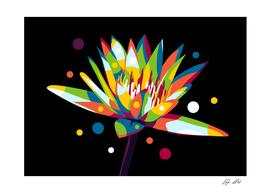 Lotus Flower in Pop Art