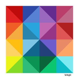 Polygon colourful minimalist pattern