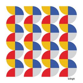 Vintage abstract geometric art - bauhaus colours