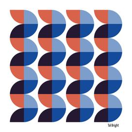 Vintage abstract geometric art
