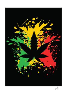 marijuana splatter art