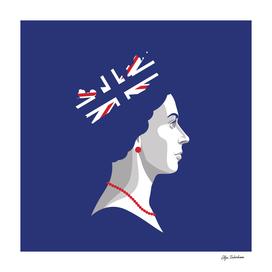 Digital portrait of Her Majesty The Queen Elizabeth II